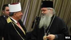 Поглаварите на Исламската верска заедница и на Македонската православна црква.