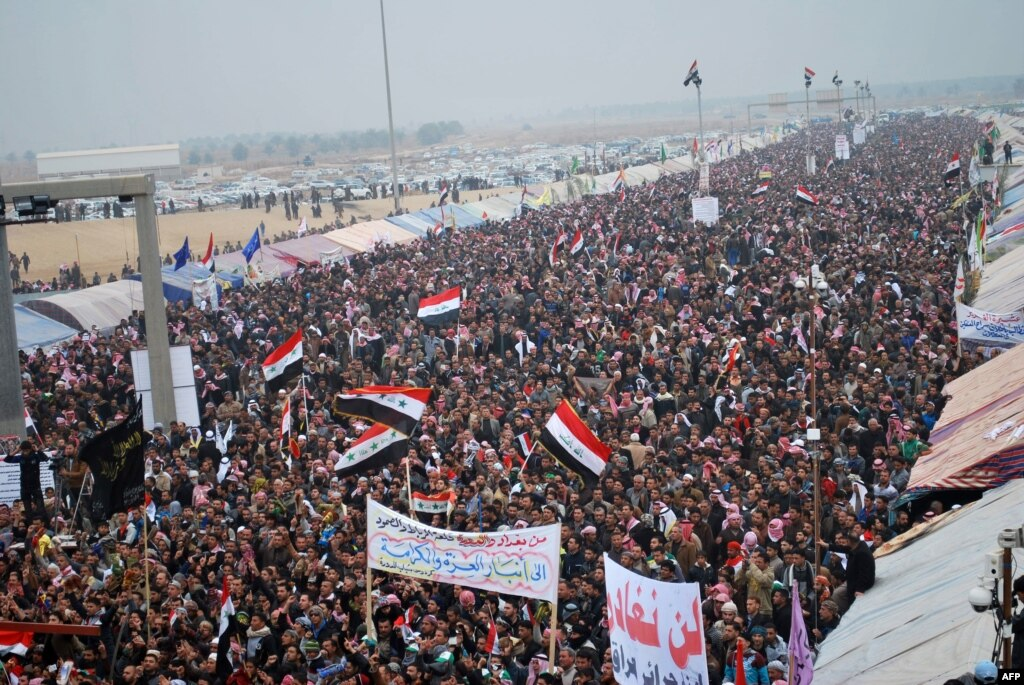 مظاهرات سنة العراق ضد اقصاء المالكي