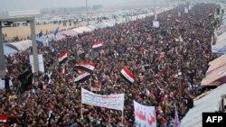 جانب من مظاهرات في محافظة الأنبار
