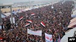 من تظاهرة حاشدة في الأنبار في يوم 25/1/2013