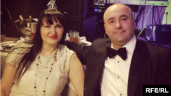 In the past, Oleksandr Yershov (right) has said most of the family's property is in his wife, Oksana's (left), name, meaning he owns very little on paper.