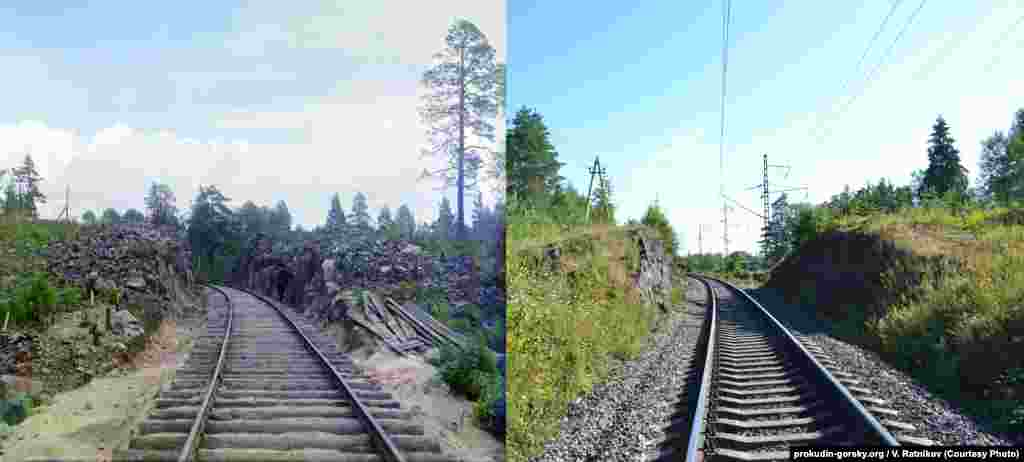 Railroad tracks near the town of Kondopoga, Russia. 1916/2012