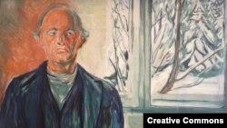 Эдвард Мунк, автопортрет в 77 лет
