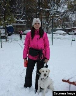 Ольга с собакой Герой