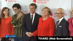 Cancelara Merkel şi preşedintele Macron la Frankfurt