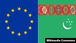 Turkmenistan/ÝB baýdaklary