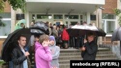 Сёньня ля Ленінскага суду ў Горадні.