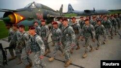 Американские десантники на учениях НАТО в Польше, апрель 2014 года