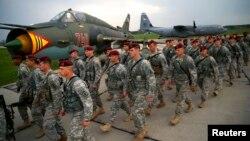 Американские десантники прибыли на совместные учения стран НАТО в Польшу. Апрель 2014 года