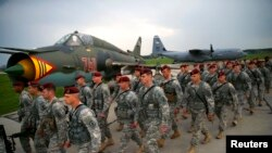 Спільні тренування армії США і Польщі, Варшава, квітень 2014 року