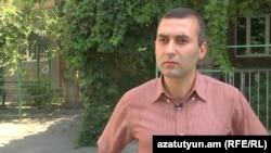 Հարություն Աղլամազյանը զրուցում է «Ազատության» թղթակցի հետ: 15-ը օգոստոսի, 2016 թ․