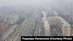 Задымленный Красноярск