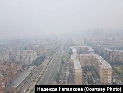 Дымка в Красноярске. Июль 2019 года