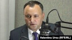Игорь Додон, лидер молдавских социалистов. Символ партии - пятиконечная звезда