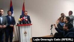 Zoran Tegeltija i Milorad Dodik na pres-konferenciji