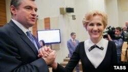 Леонид Слуцкий и Ирина Яровая