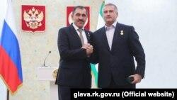 Глава Ингушетии Юнус-Бек Евкуров и Сергей Аксенов в Магасе