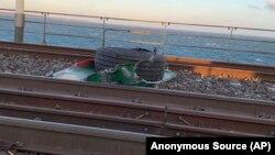 Lângă locul accidentului, pe Marele Pod de Centură
