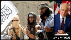 آرشیف/ زلمی خلیل زاد و برخی اعضای طالبان