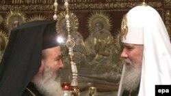 Алексий II c главой греческой православной церкви