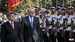 Средба на претседателите на Македонија и Србија Ѓорге Иванов и Томислав Николиќ во Скопје.