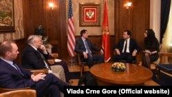 Američka delegacija na čelu sa Devinom Nunesom i crnogorskim ministrom Zoranom Pažinom, Podgorica