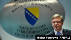 EU Commissioner for Enlargement Stefan Fuele in Sarajevo on February 18