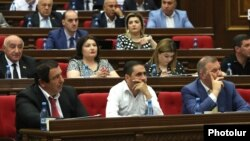 Фракция ППА во время заседания парламента (архив)
