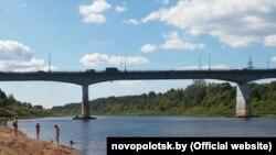 Мост празь Дзьвіну ў Наваполацку, архіўнае фота