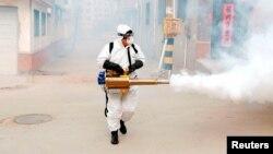 Дезінсекція села в Китаї після спалаху коронавірусу, 29 січня 2020 року