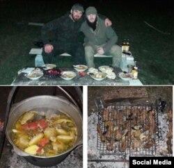 Ислам Кадыров показывает подписчикам в инстаграме, что он ест
