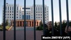 Pamje e ndërtesës së Gjykatës rajonale në Moskë ku sot ka pasur të vrarë dhe të plagosur