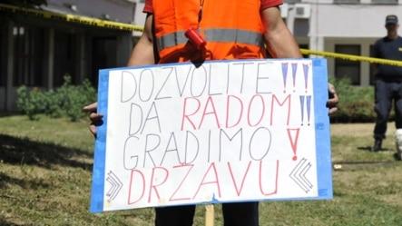 Sa jednog od protesta u BH