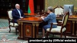 Аляксандар Лукашэнка і Надзея Ермакова