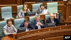 Sednica Skupštine Kosova na kojoj je donesena odluka o Specijalnom sudu