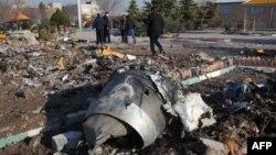 Фото с места падения украинского пассажирского самолета