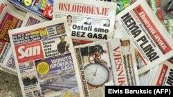 Sporenja oko dugova i cijene za isporuke jedinog gasa koji dolazi u BiH, onog iz Rusije, traju godinama (Foto: naslovnice listova iz 2009. godine)