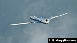 U.S. officials initially said a Navy MQ-4C Triton drone (pictured) had been downed by Iran, but later said it was a RQ-4A Global Hawk. (file photo)