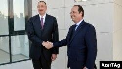 Ֆրանսիայի նախագահ Ֆրանսուա Օլանդ և Ադրբեջանի նախագահ Իլհամ Ալիև, արխիվ