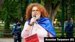 Ивелина Паничарова по време на една от проявите