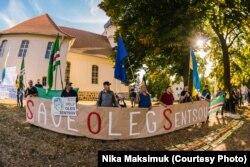 Участники пикета требуют освобождения Олега Сенцова