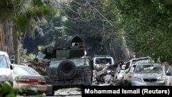 تصویر از محل انفجار در ساحۀ شهر نو کابل/ Source: Mohammad Ismail (Reuters)