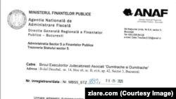 ANAF a impus poprire pe conturile Jandarmeriei București