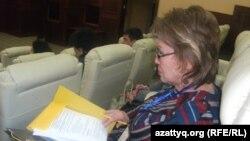 Вице-президент по международным связям Международного университета Кыргызстана Такен Акылбекова.