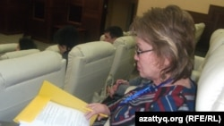 Қырғызстан халықаралық университетінің вице-президенті Тәкен Ақылбекова. Алматы, 27 наурыз 2014 жыл.