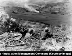 U.S. soldiers on the Pusan perimeter in 1950.