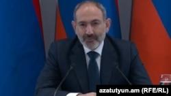 Премьер-министр Армении Никол Пашинян на пресс-конференции в Капане, 25 января 2020 г.