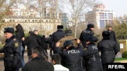 Demonstrations are only allowed in certain remote areas in Baku.
