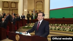 Uzbek President Shavkat Mirziyaev was sworn into his office on December 14.