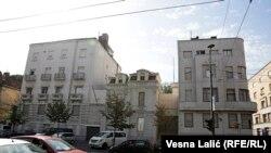 Fosta clădire a ambasadei SUA din Serbia